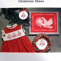 Christmas Doves Cross Stitch Pattern from Ginger and Spice Designworks