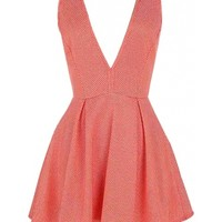 Coral Crossback Dress