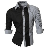 Mens Two Color Dress Shirt