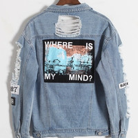 Mindless Distressed Denim Jacket
