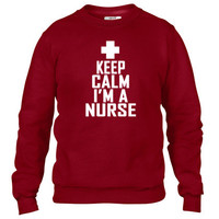 keep calm im a nurse tee shirts kl Crewneck sweatshirt