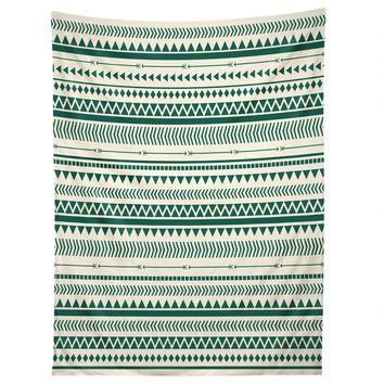 Allyson Johnson Teal Aztec Tapestry