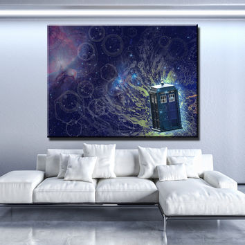 Tardis Abstract Canvas Set