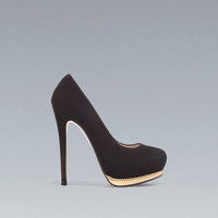 PUMPS WITH METALLIC PLATFORM - High-heels - Shoes - Woman - ZARA United States
