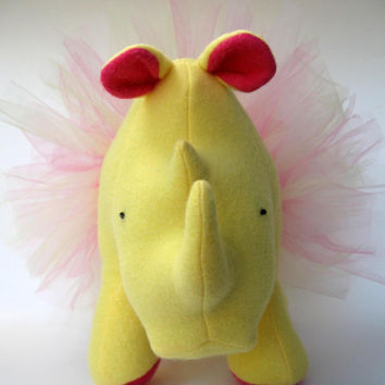 Balbina Ballerina Rhino, tutu, dancing, stuffed animal, plush, fleece