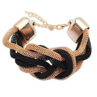 Trendy Fashion Braided Rope Chain Charm Bracelets & Bangles Pulseira for Women  ladies Luxury Braided Jewelry