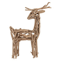 "20"" Driftwood Deer, Natural, Holiday Objets"