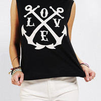 Urban Outfitters - Five Crown Love Anchor Muscle Tee