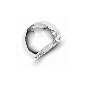 Sterling Silver Polished Cigar-band Ring, Best Quality Free Gift Box Satisfaction Guaranteed