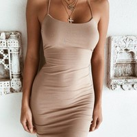 Buy Our Bentley Dress in Tan Online Today! - Tiger Mist
