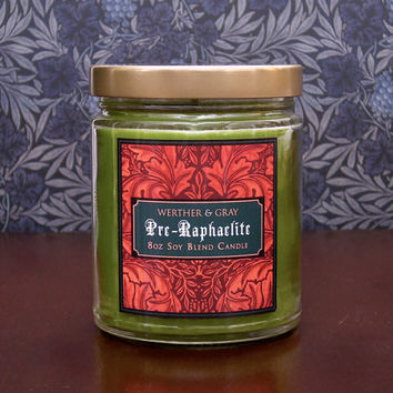 PRE-RAPHAELITE, Scented Candle, Victorian Decor, William Morris, Art History, Frankincense Candle, Rossetti, Medieval Style, Burne-Jones