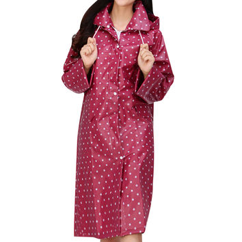 Women's Rainwear Raincoat for Women Adults Raincoats Rain Coat Rain Gear Household Item 2 Colors Red Blue Single-person Rainwear