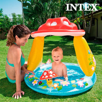 Mushroom Inflatable Paddling Pool with Umbrella Intex