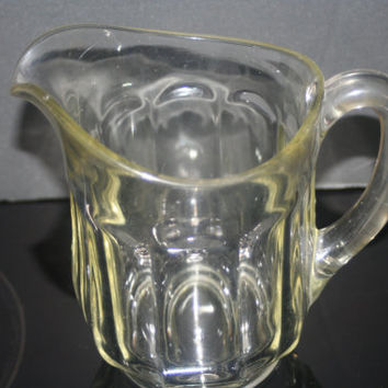 Vintage Thick Glass Beer  Pitcher, Vintage Barware