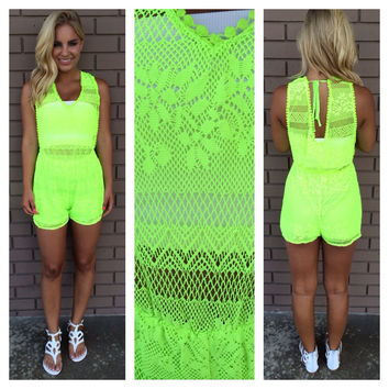 Bright on the Beach Romper