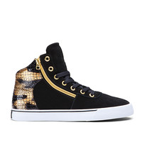 WOMEN-CUTTLER BLACK/GOLD - WHITE | Official SUPRA Footwear Site