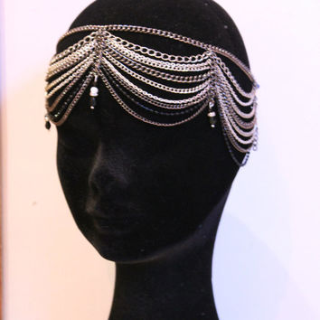 Chain headdress Great Gatsby Headband - 1920s Art deco style flapper - Great Gatsby headpiece - Wedding Headband -Headdress