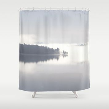 Reflecting By The Lake Shower Curtain by Gallery One