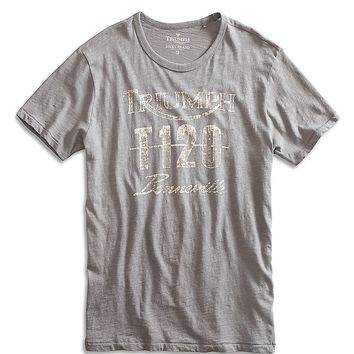 Lucky Brand Triumph T120 Bonneville Mens - Brushed Nickel