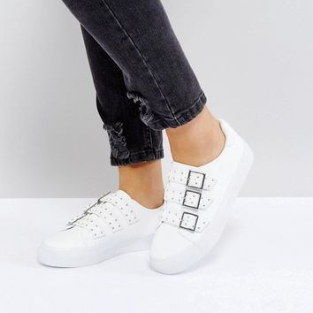 ASOS DEE Wide Fit Buckle Trainers at asos.com