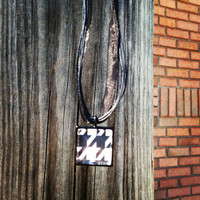 Square Houndstooth Necklace