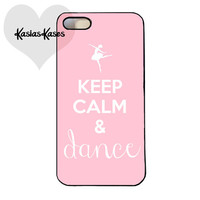 Keep calm and dance on phone case