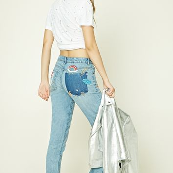 Patch Graphic Boyfriend Jeans