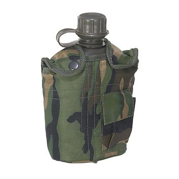 Mustang Camo Fabric Covered Canteen, 1 Qt.
