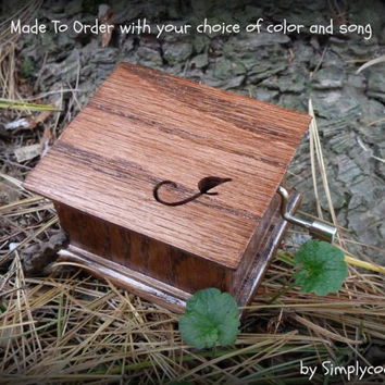 wedding music box, bridesmaids gift, maid of honor, flower girl gift, ring bearer gift, custom music box