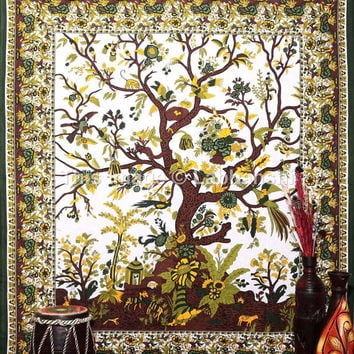 Tree Of Life Tapestries Wall Art, Hippie Tapestries, Wall Tapestries, Tapestry Wall Hanging, Indian Tapestry, Bedspread, Bohemian Bedding