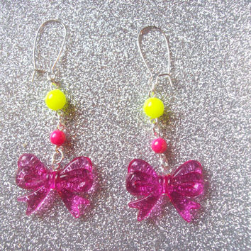 Jem Inspired Neon 80s Party Earrings