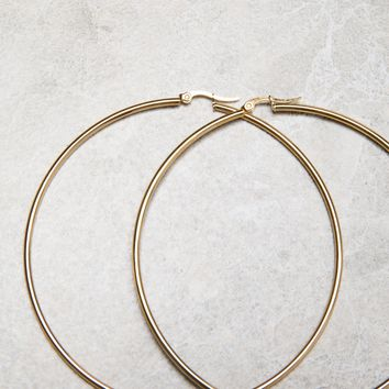 Simple Metal Hoop Earrings