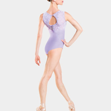 "Free Shipping - Adult ""Majeste"" Floral Lace Sweetheart Tank Leotard by WEAR MOI"