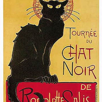 Chat Noir Vintage Ad Poster by Steilen