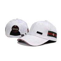 DCCKNQ2 GUCCI Women Men Bee Embroidery Adjustable Travel Hat Sport Cap