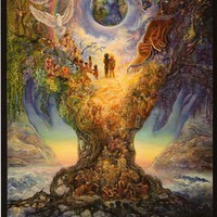 Josephine Wall Tree of Peace Art Poster 24x36