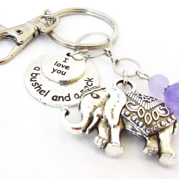 Elephant Keychain with Quote