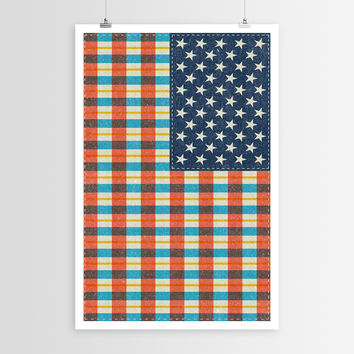 Nick Nelson's Plaid Flag POSTER
