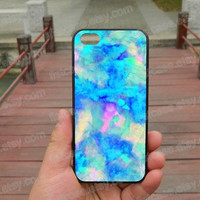 Falling Watercolor blue case   ipone 5s case iphone 4/4s/5/5c case Samsung galaxy s5 case galaxy s3/s4 case covers skin 400