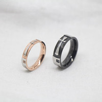 2pcs-Free Engraving,Lovers rings, promise ring,couple Rings,blackring,ring for couples