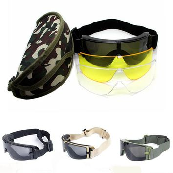 Hot Sale!Military Airsoft X800 Tactical Goggles USMC Tactical Sunglasses Glasses Army Paintball Goggles