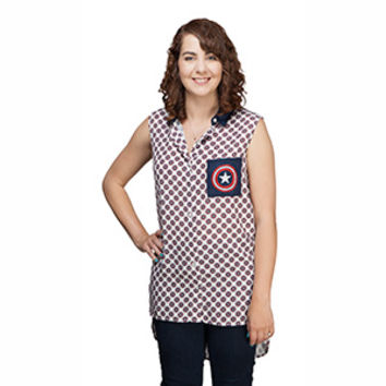Captain America Shield Collared Tank Top - Exclusive