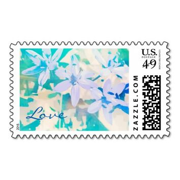 Turquoise Blue Love Stamp