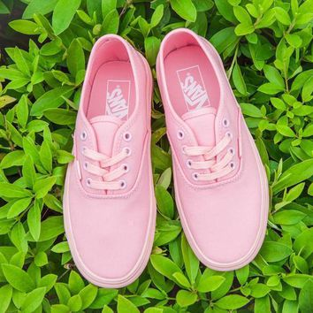Pink VANS Authentic Canvas Old Skool Flats Sneakers Sport Shoes