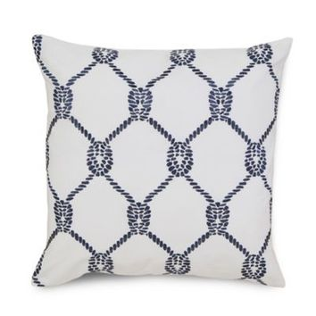 Southern Tide® Breakwater Rope Square Throw Pillow in Nautical Navy