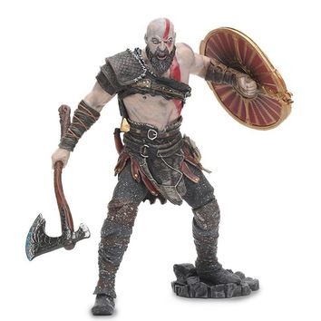 """18cm NECA Toys Game God of War 4 Kratos PVC Action Figure Ghost of Sparta Kratos Collectible Model Doll Toy 7"""" Scale"""