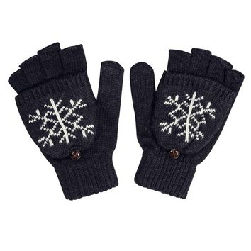 Fashion Gloves Women Mittens Warmer Winter Gloves Fingerless Gloves Female Girl Cute Mittens for Student Guantes Mujer