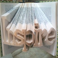 Word Book Sculpture by LaynieAart on Etsy