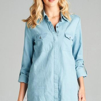 Tunic Chambray Shirt