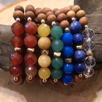 Chakra Wrist Mala- 14k Gold Filled Beads